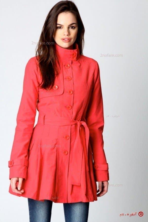 مدل زیبای پالتو قرمز