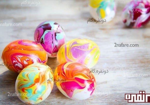 تخم مرغ رنگی ابر و بادی