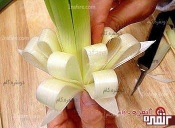 تزیین غذا با پیازچه