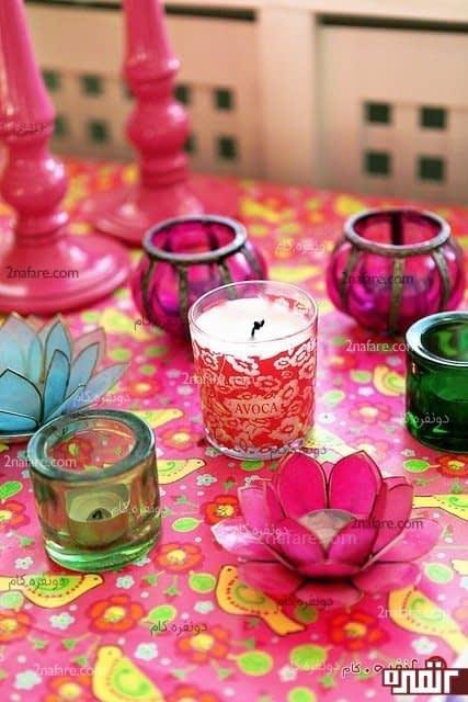 عکس شمع لیوانی
