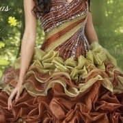 لباس عروس حنشابندان رنگی و زیبا