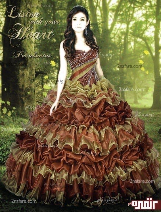 لباس عروس حنابندان زیبا
