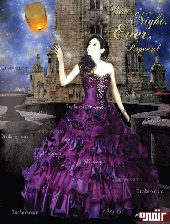 لباس عروس حنابندون زیبا