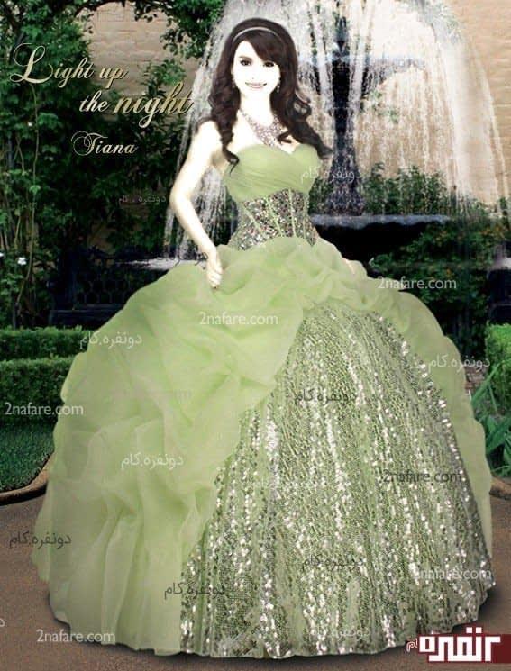 لباس عروس زیبا برای حنابندان