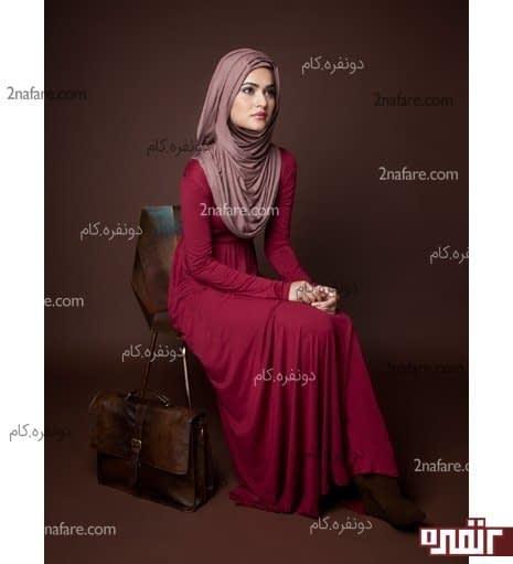 مانتو بلند و مدل حجاب زیبا