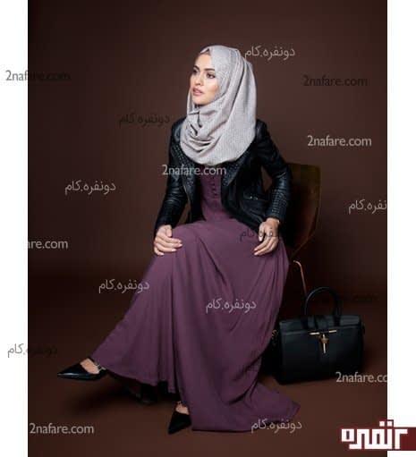 مدل مانتو بلند و با حجاب