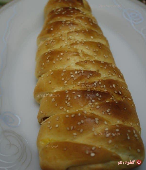 نان شیرمال با طرح بافت