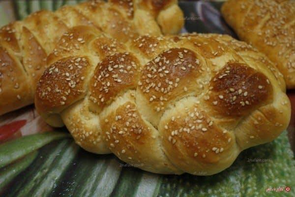 نان شیرمال با طرح گیسو