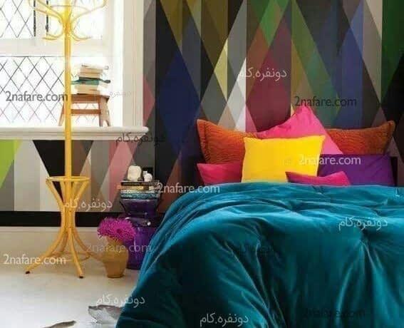 کاغذ دیواری و ترکیب رنگ در اتاق خواب