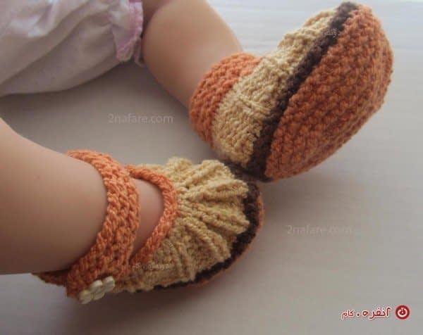 کفش بافتنی برای بچه های ناز