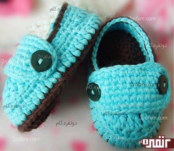 کفش زیبای بافتنی برای کوچولوها
