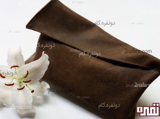کیف چرم زیبا و شیک و ساده