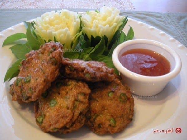 تزیین زیبای غذا با سبزیجات