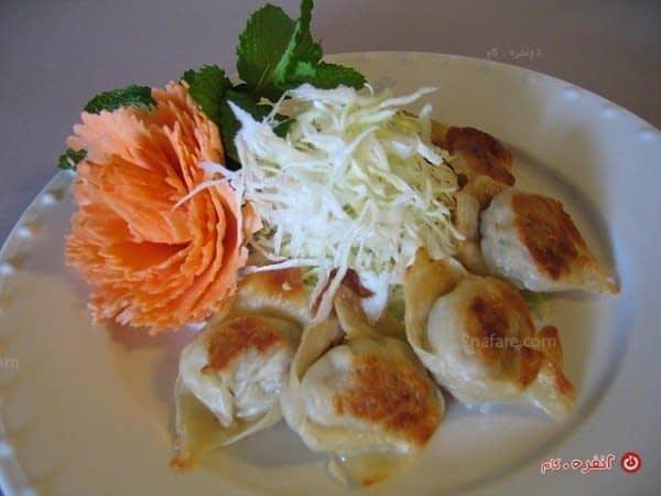 تزیین غذای زیبا با سبزیجات