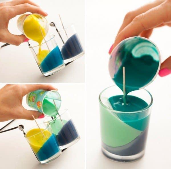 آموزش ساخت شمع رنگی زیبا در لیوان