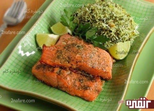 سبزی پلو ماهی شب عید