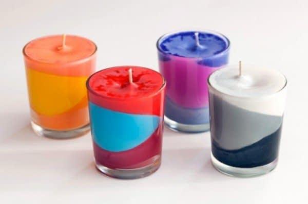 شمع دست ساز چند رنگ