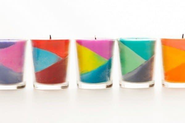 شمع رنگی