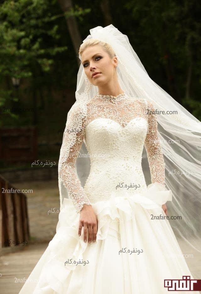 قیمت لباس عروس با تور دانتل