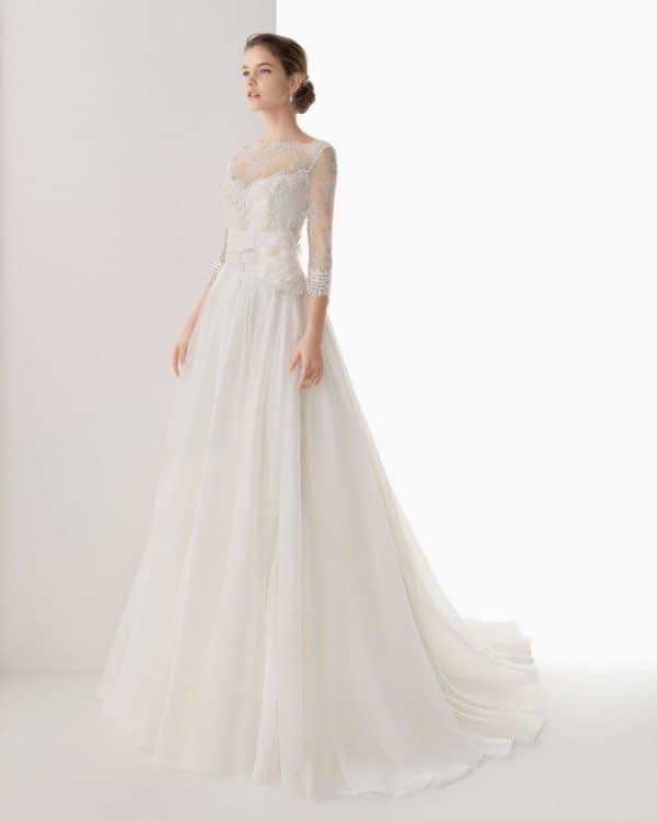 لباس عروس آستین بلند زیبا