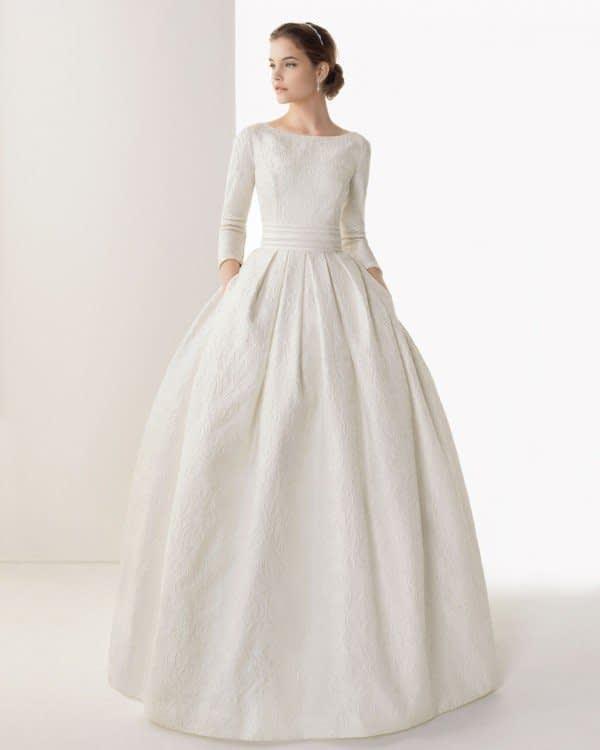 لباس عروس پوشیده و آستین بلند