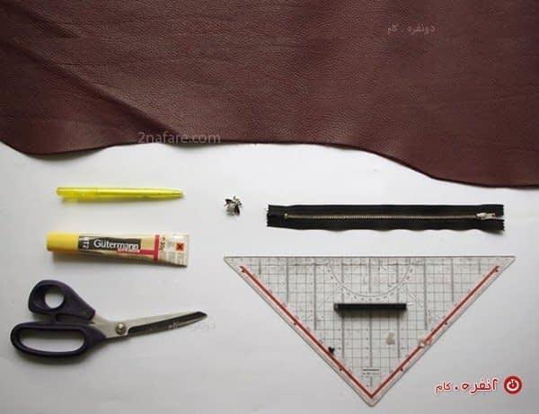 لوازم مورد نیاز ساخت کیف چرم