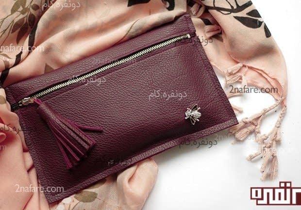 کیف مجلسی زیبا با چرم