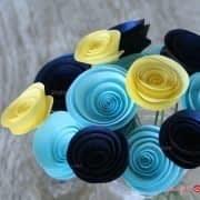 گل های کاغذی منظم