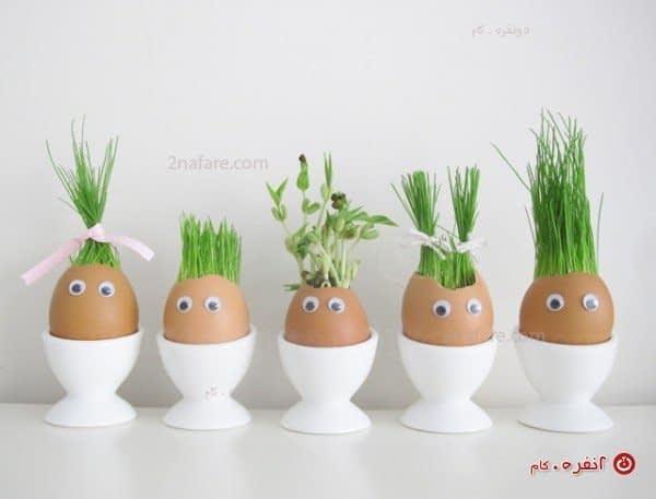 سبزه در تخم مرغ