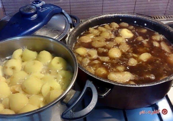 آب پز کردن میوه ها