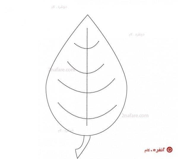 الگوی زیر لیوانی برگ