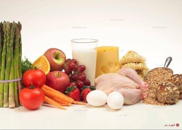 خوراکی های مورد نیاز بدن