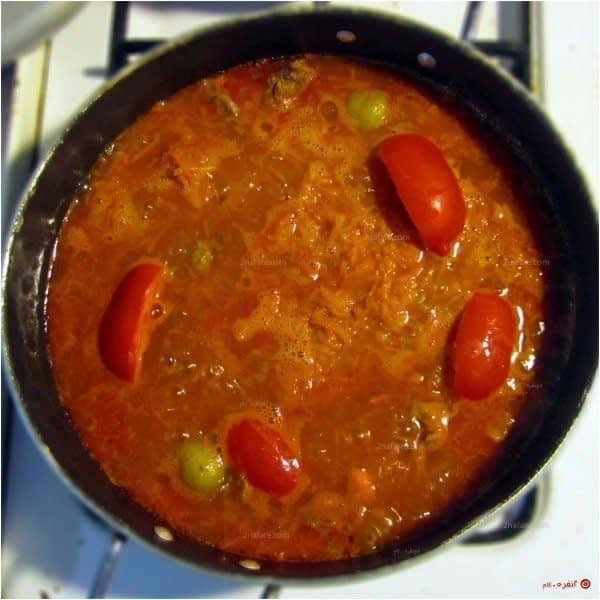 خورشت-هویج---اضافه-کردن-گوجه