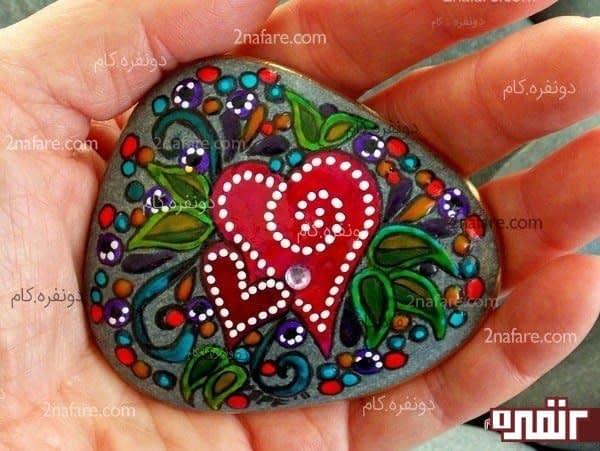 آموزش نقاشی نوشته روی سنگ نمک فروش اینترنتی تابلو نقاشی مدرن - آموزش نقاشی روی سنگ