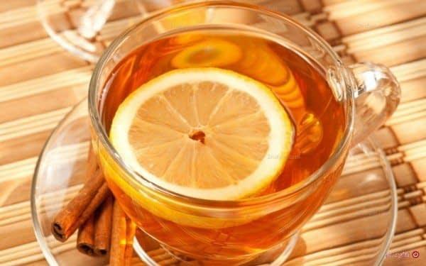 چای سیاه و لیمو