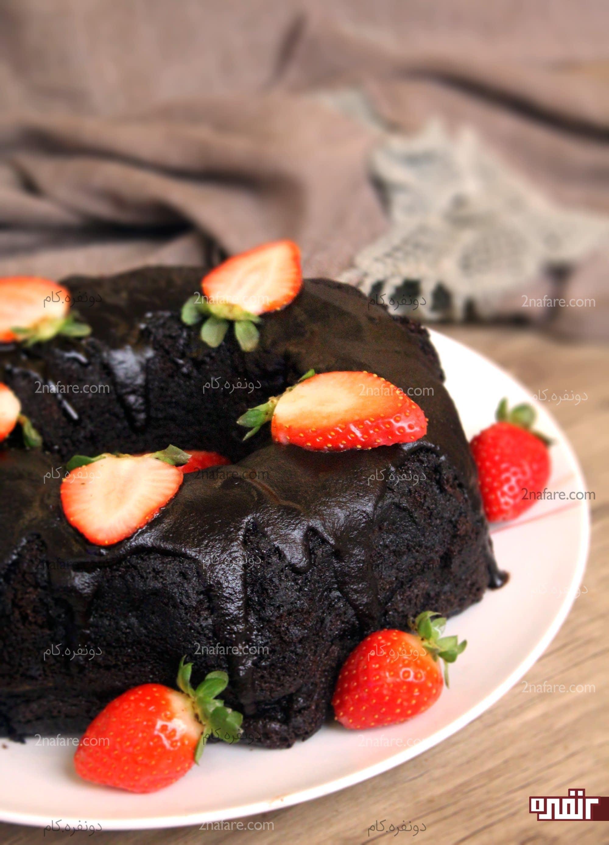 طرز تهیه کیک شکلاتی خوشمزه مرحله به مرحله • دونفره