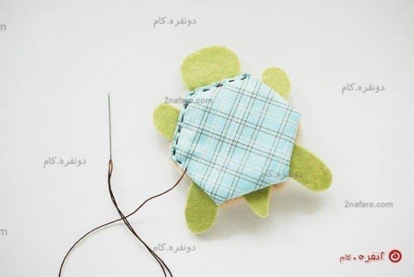 آموزش دوخت دستمال لاکپشت