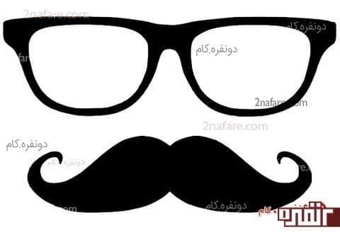 الگوی سیبیل و عینک