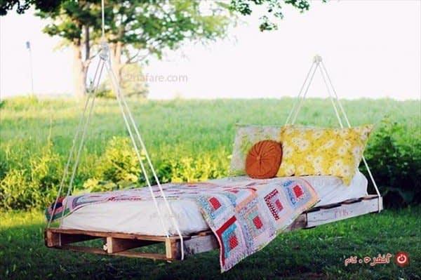 تخت تابی با پالت چوبی