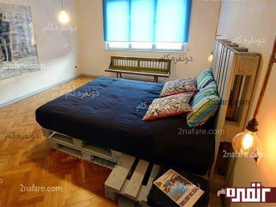 تخت خواب و پا تختی متصل