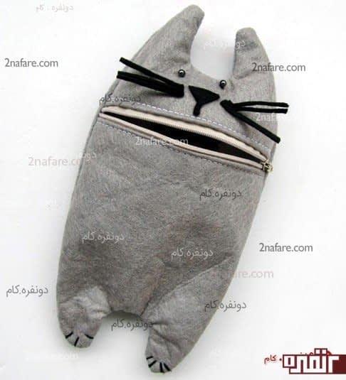 جا مدادی گربه ای خاکستری رنگ