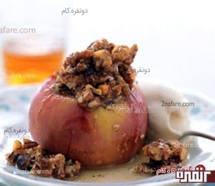 دسر سیب و خرمای تازه