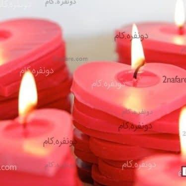 ساخت شمع قلب