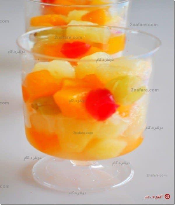 طرز تهیه کاسترد میوه ای