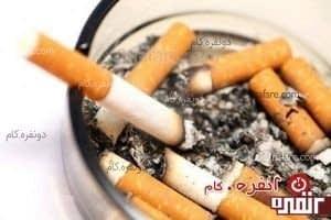 لکه ی سیگار داخل زیر سیگاری