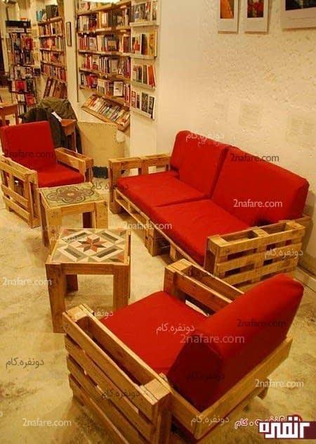 نیم ست چوبی برای فضای داخلی