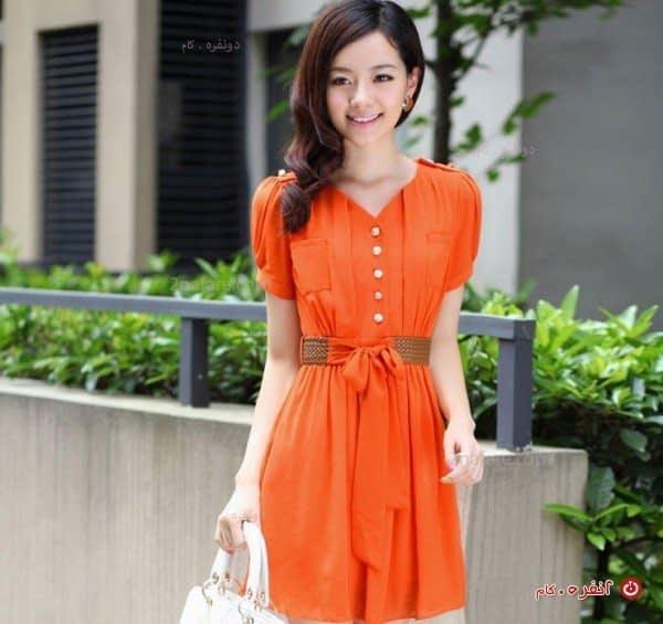 پیراهن کوتاه زیبا و تابستانه