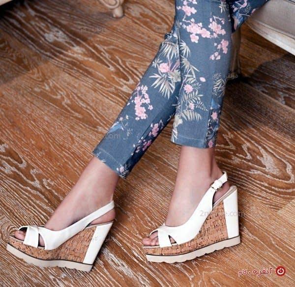 کفش لژدار مجلسی - سفید