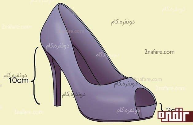 کفش پاشنه بلند راحت و مطلوب