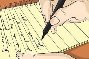 نوشتن در دفتر روزانه
